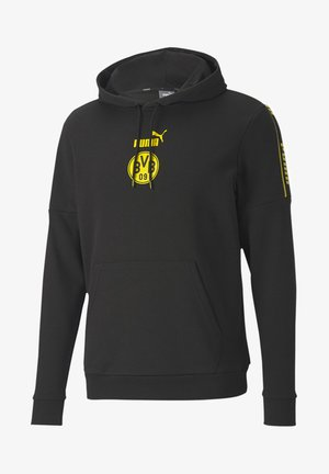 BVB FTBLCULTURE  - Sweat à capuche - black-cyber yellow