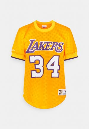 NBA LOS ANGELES LAKERS SHAQUILLE O NEAL NAME & NUMBER - Club wear - gold