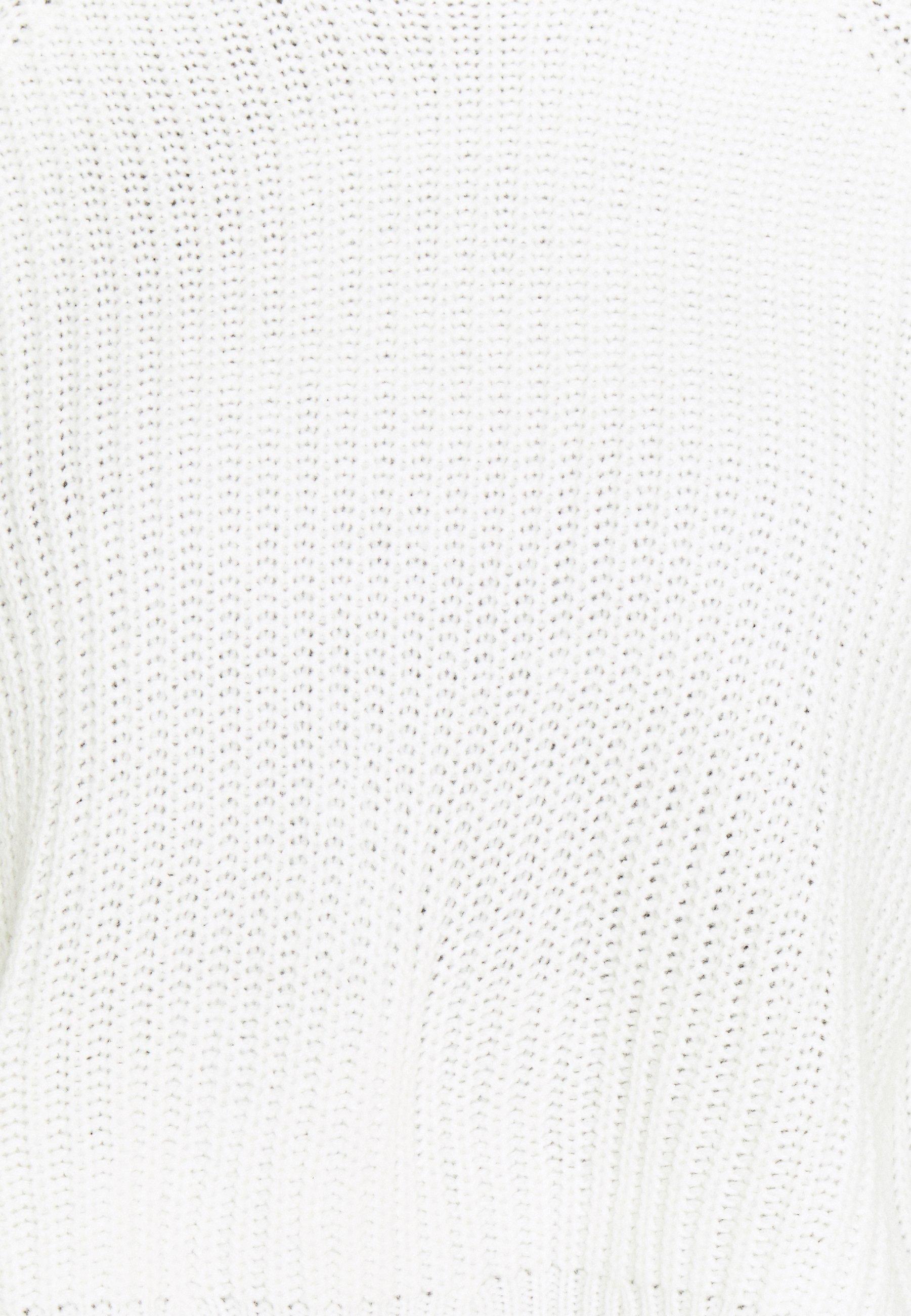 Missguided Petite CROPPED Strikkegenser off white