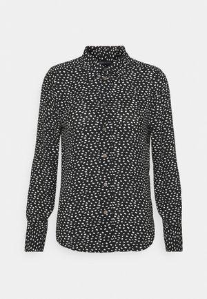 ANIMAL SHIRT - Button-down blouse - black