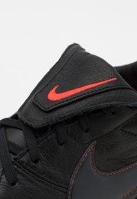 Nike Performance - PREMIER - Kopačky lisovky - black/dark smoke grey/chile red - 5