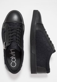 Calvin Klein - IBRAHIM BRUSHED - Sneakers laag - black - 1