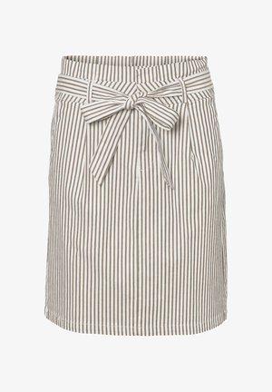 ROCK HIGH WAIST PAPERBAG - A-line skirt - silver mink