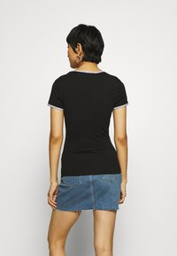 Calvin Klein Jeans - LOGO TRIM - Print T-shirt - black - 2