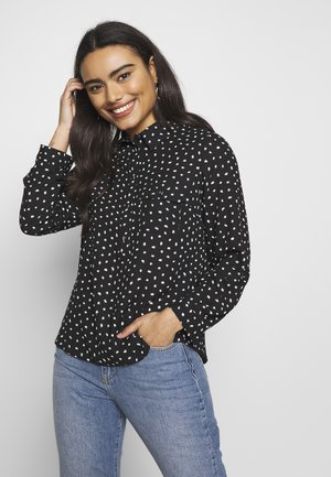 NATALIA SPOT ROLL SLEEVE - Blouse - black