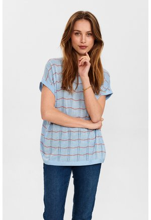 NUDARLENE DARLENE - Print T-shirt - airy blue
