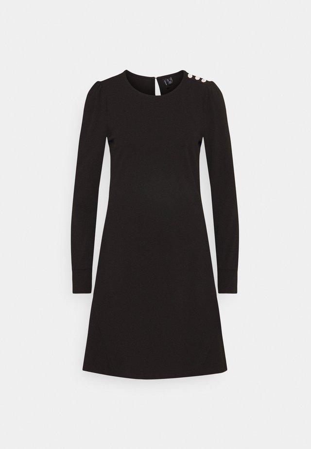 VMJASMINE BUTTON DRESS - Jerseykjole - black