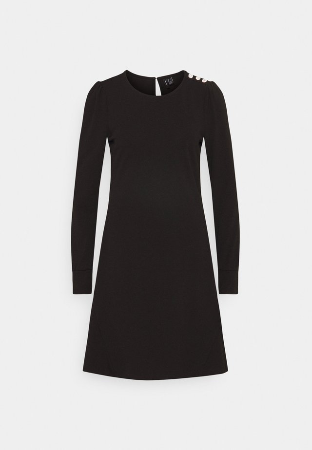 VMJASMINE BUTTON DRESS - Jersey dress - black
