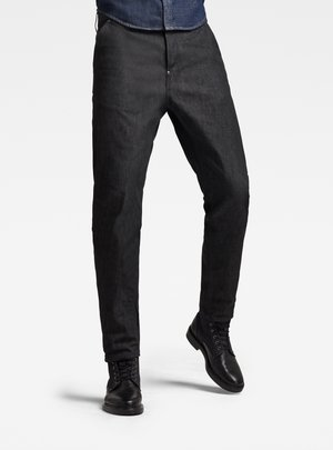 GRIP 3D RELAXED TAPERED - Slim fit jeans - pitch black