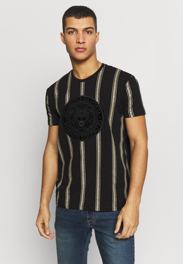 DORIAN - T-shirt imprimé - black