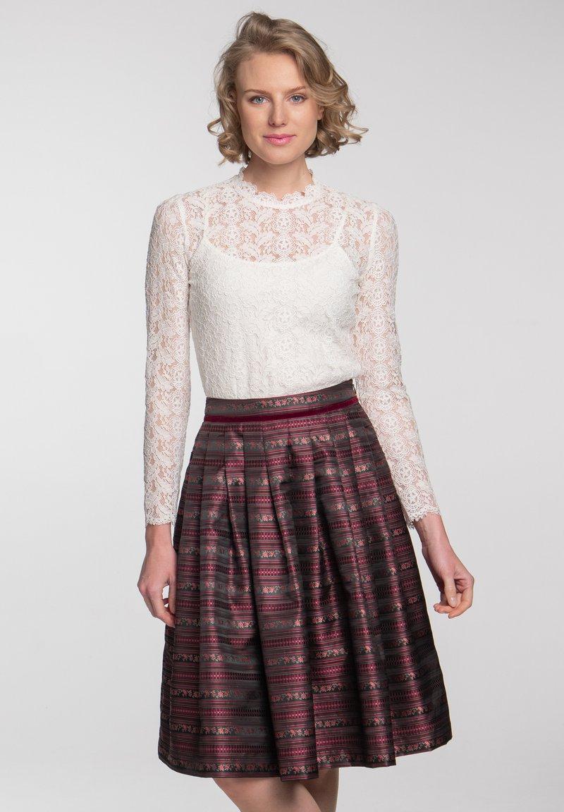 Spieth & Wensky - A-line skirt - dunkelrot