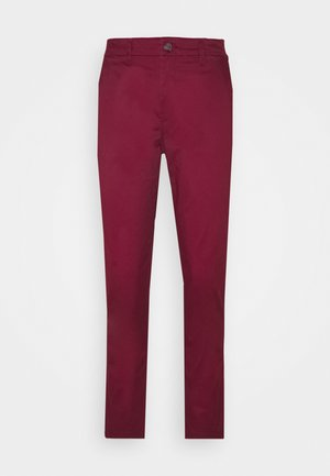 GIRLFRIEND - Chino kalhoty - burgundy