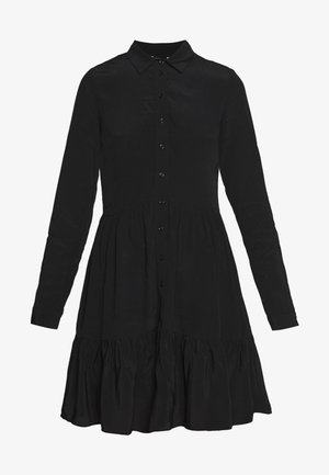 FRILL SHIRT DRESS - Robe chemise - black