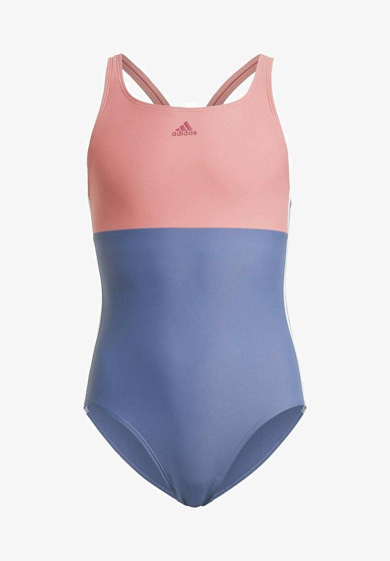adidas Performance - MAILLOT DE BAIN COLORBLOCK 3-STRIPES - Swimsuit - blue