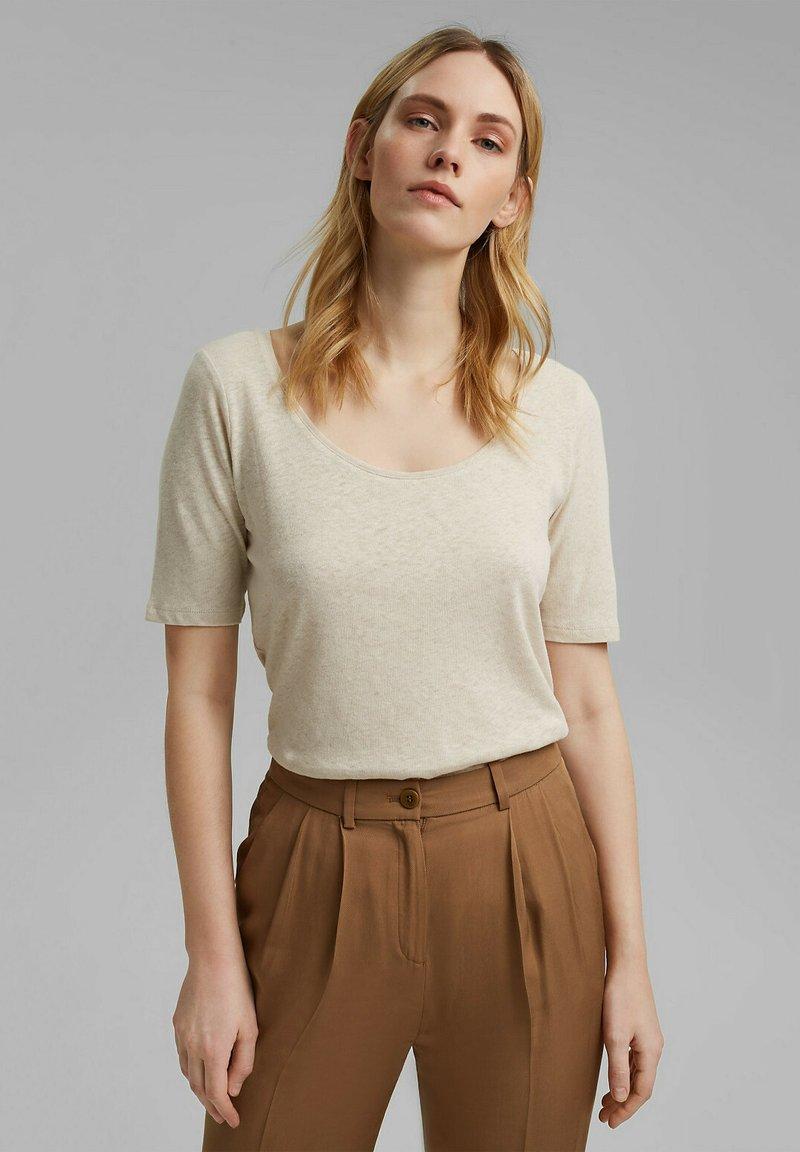 Esprit - Basic T-shirt - light beige
