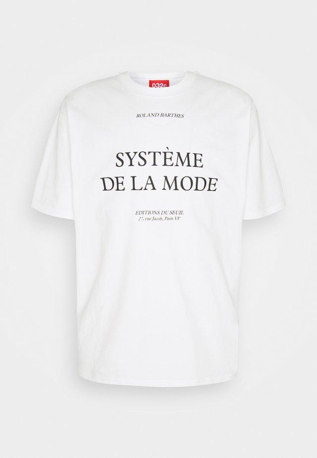 BARTHES - T-shirt imprimé - white