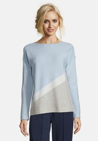 Betty & Co - MIT COLOR BLOCKING - Jumper - blue/silver - 0