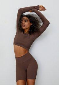 PULL&BEAR - Long sleeved top - brown - 4