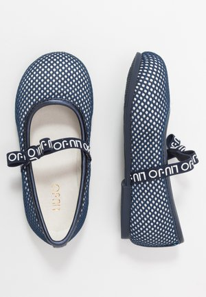 AUDRINE - Ankle strap ballet pumps - blue