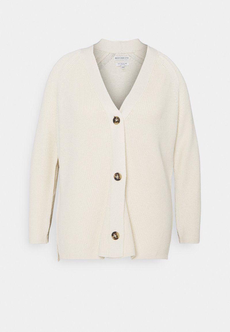 MY TRUE ME TOM TAILOR - Cardigan - champagne white