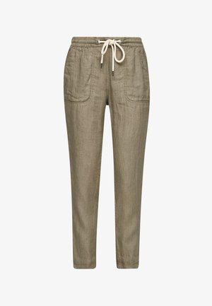 REGULAR FIT - Trousers - summer khaki melange