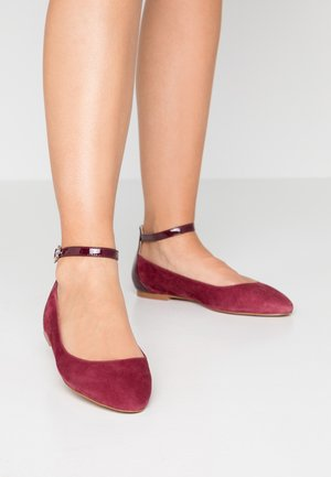 Ballerines - dark red