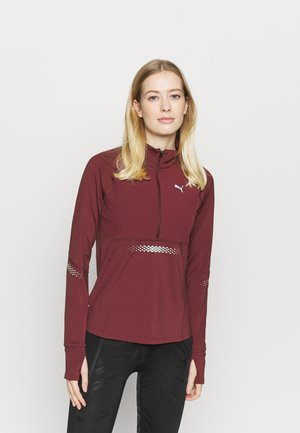 RUNNER ZIP - Funktionsshirt - burgundy