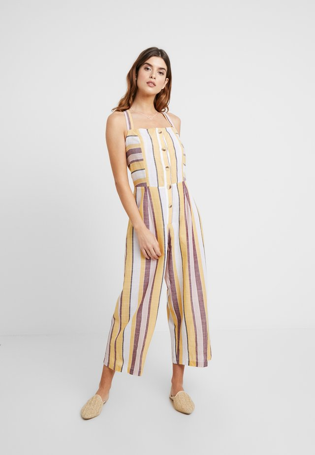 SAFARI SPOT BUTTON UP STRIPE JUMPSUIT - Ranta-asusteet - multi