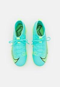 Nike Performance - MERCURIAL 8 ACADEMY TF UNISEX - Astro turf trainers - dynamic turq/lime glow - 3