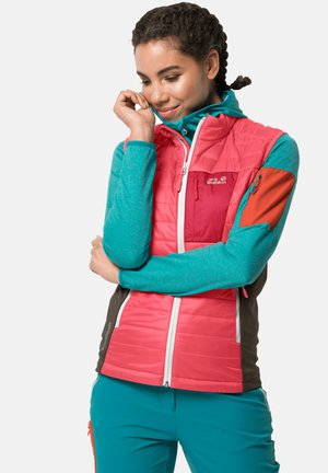 ROUTEBURN - Waistcoat - coral pink