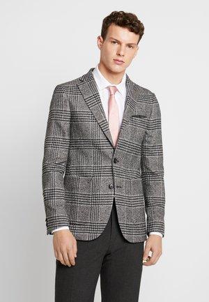 BOUCLE CHECK - Blazer jacket - black