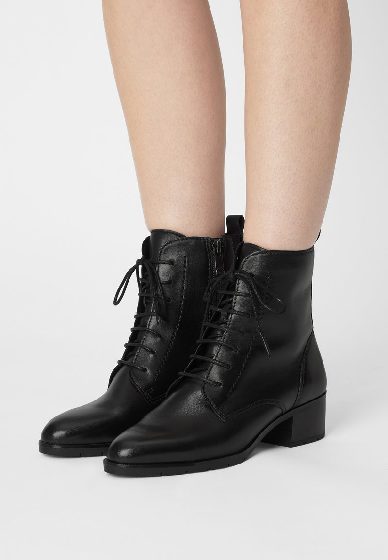 Marco Tozzi - Šněrovací kotníkové boty - black