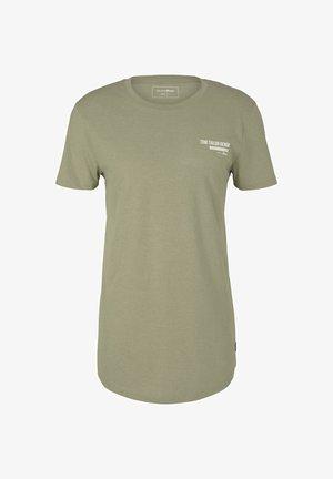 T-shirt - bas - silver olive melange
