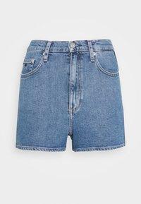 Calvin Klein Jeans - HIGH RISE  - Farkkushortsit - light blue - 3