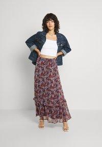 Vila - VIFALIA WIDE MAXI SKIRT - Maxi skirt - winetasting blue - 1