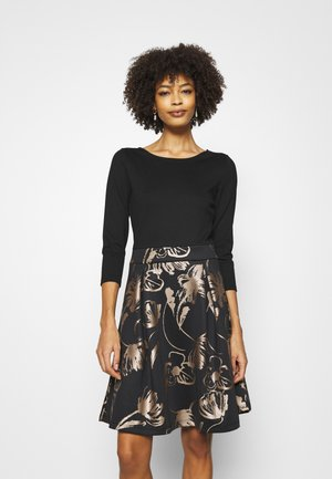 SHINY SKIRT - Vestito elegante - black