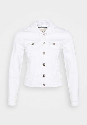 ONLTIA LIFE JACKET - Denim jacket - white