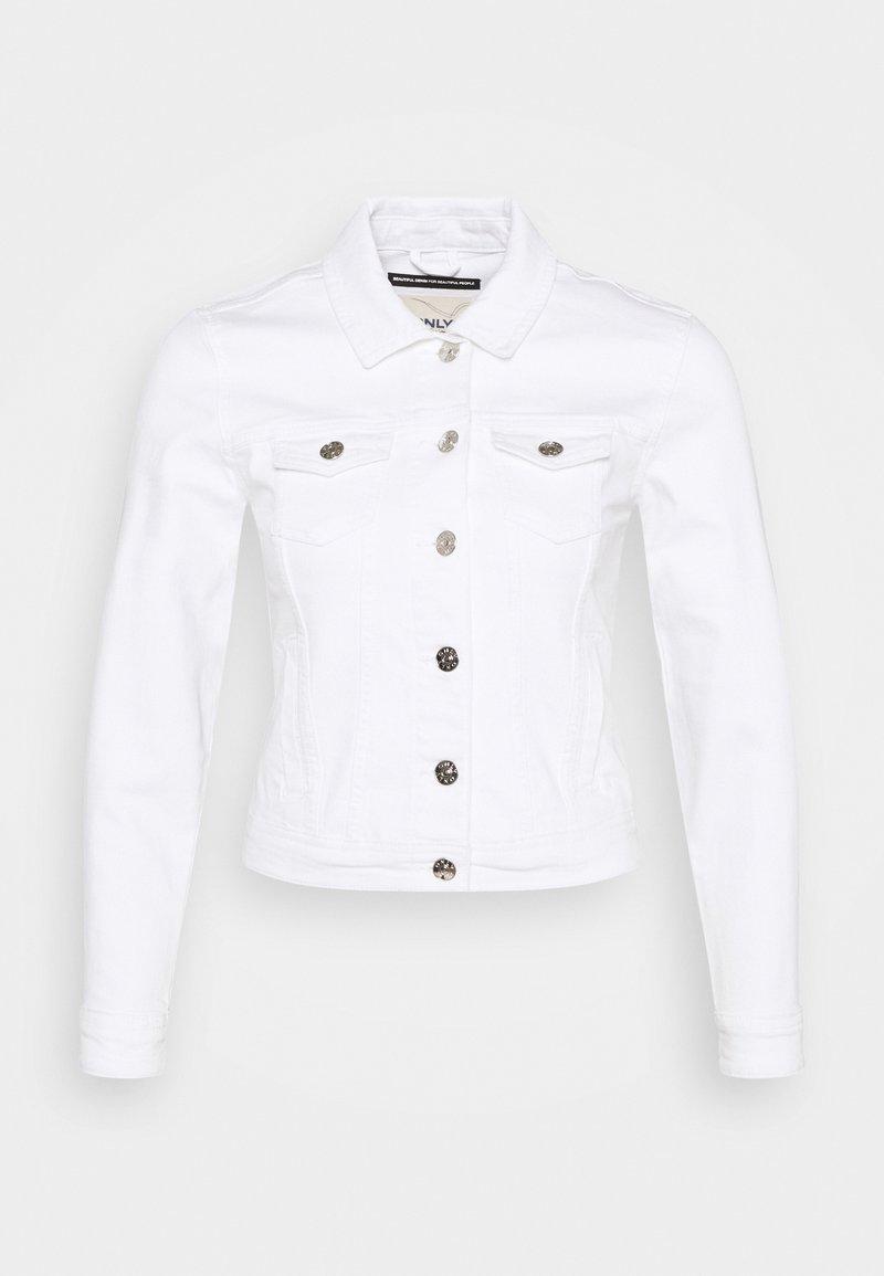 ONLY Petite - ONLTIA LIFE JACKET - Jeansjakke - white