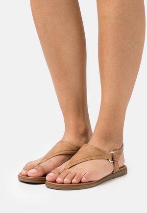 ZOLLIE - T-bar sandals - cognac