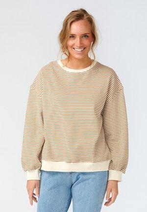 TATUM - Sweatshirt - camel stripe