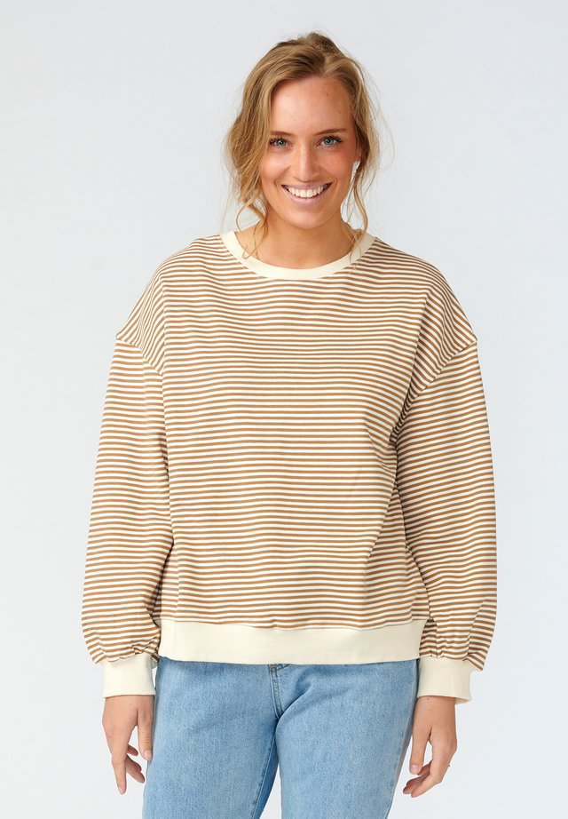 TATUM - Sweater - camel stripe