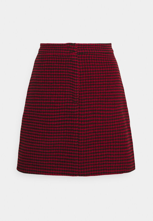 DOGTOOTH PRINT MINI SKIRT - Gonna a campana - red/black