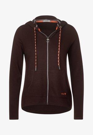 MIT STRUKTUR - Zip-up hoodie - braun