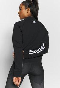 adidas Performance - MUST HAVE ATHLETICS TRACKSUIT JACKET - Sportovní bunda - black/white - 2