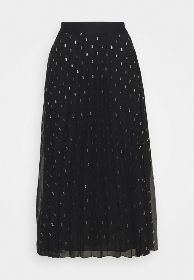 PARTY - Maxi skirt - noir/gold