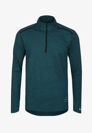 ELEMENT - Sports shirt - dark teal green / black / refeltive silver