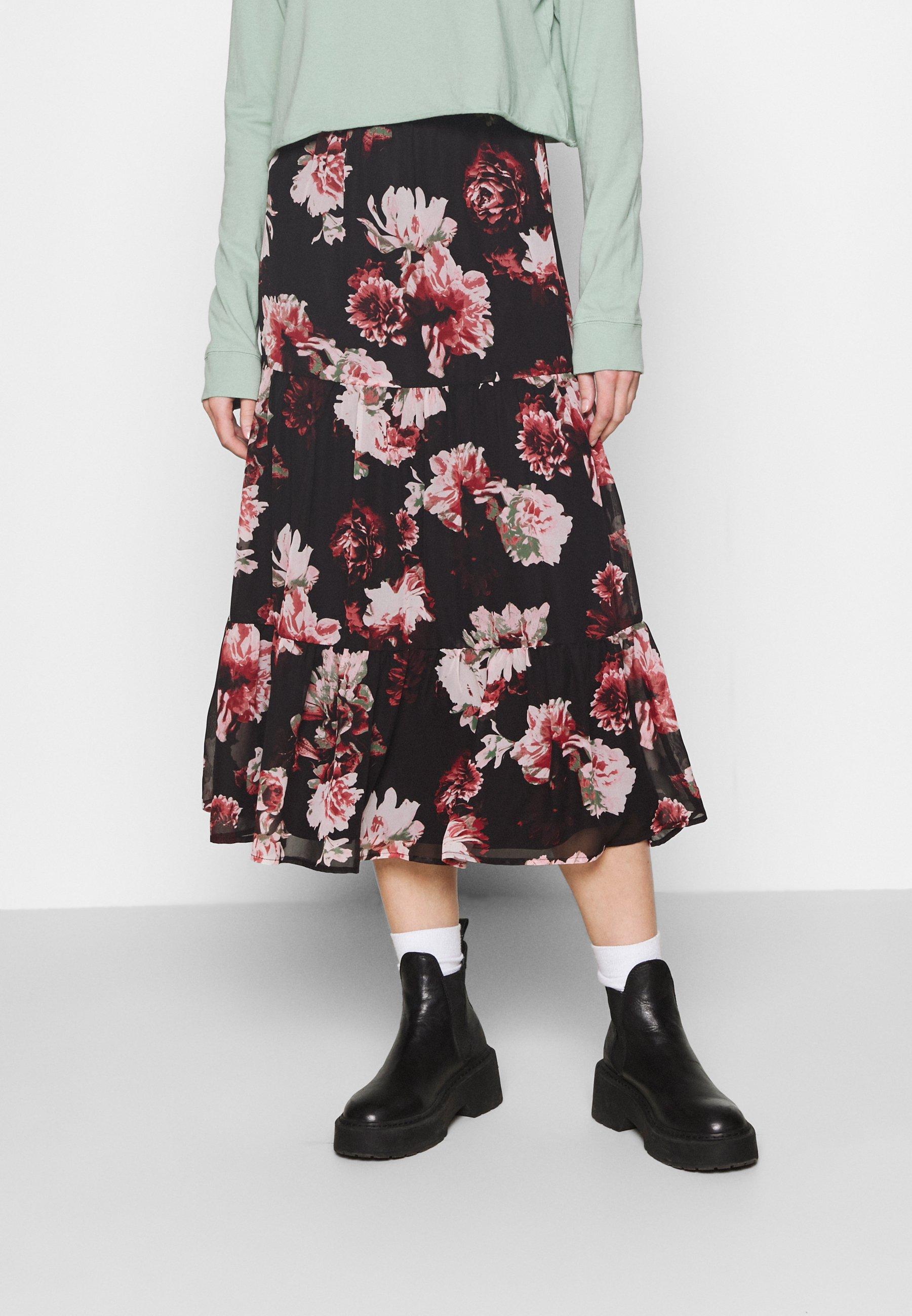Women ONLTILLY MIDI SKIRT - A-line skirt