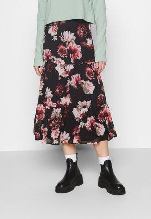 ONLTILLY MIDI SKIRT - A-line skirt - black