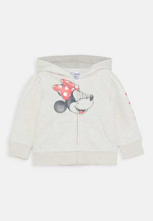TODDLER GIRL MINNIE MOUSE LOGO - Huvtröja med dragkedja - offwhite