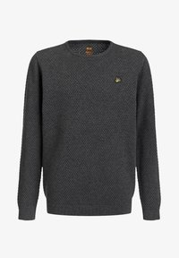 WE Fashion - JONGENS FIJNGEBREIDE MET - Jumper - blended dark grey - 0